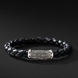Men's David Yurman Black Rubber Bracelet